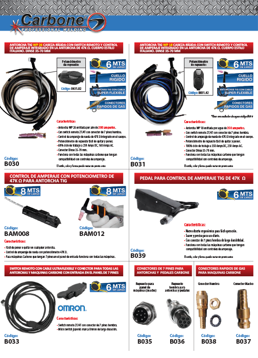 TIG Accessories and Consumables
