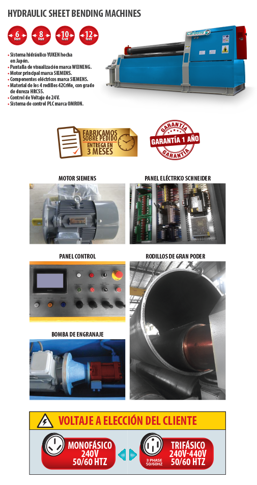 Hydraulic Sheet Bending Machines
