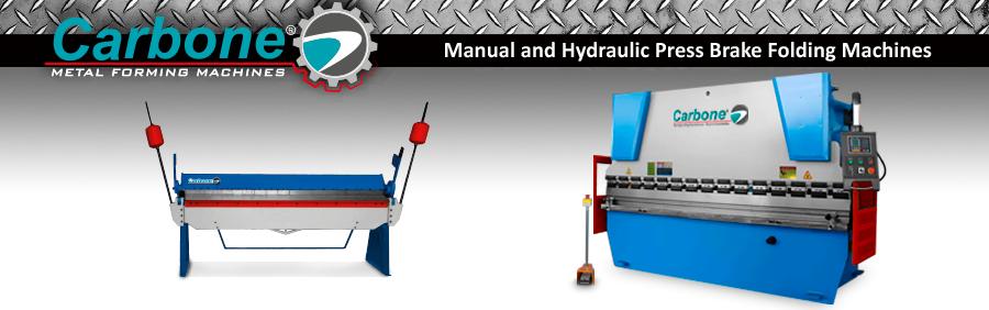 Manual and Hydraulic Press Brake Folding Machines