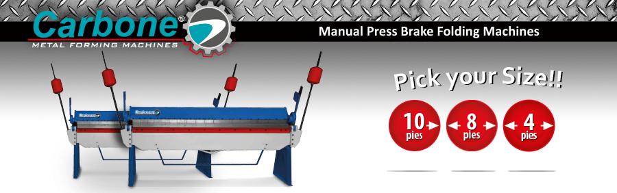 Manual Press Brake Folding Machines