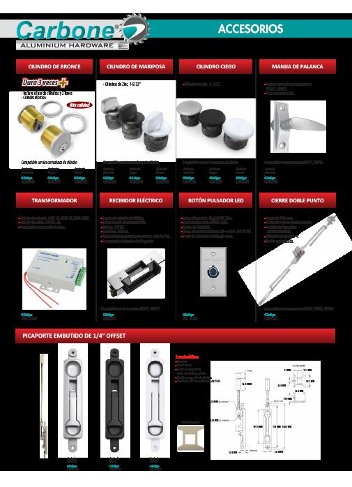 Accesorios Herrajes de Aluminio